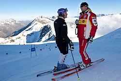 04.10.2010, Rettenbachferner, Soelden, AUT, Medientag des Deutschen Skiverband 2010, im Bild Maria Riesch mit DSV-Sportdirektor Wolfgang Maier. EXPA Pictures © 2010, PhotoCredit: EXPA/ J. Groder