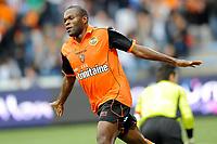 FOOTBALL - FRENCH CHAMPIONSHIP 2011/2012 - L1 - FC LORIENT v AJ AUXERRE - 21/09/2011 - PHOTO PASCAL ALLEE / DPPI - JOY INNOCENT NKASIOBI EMEGHARA (FCL)