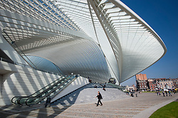 Liège-Guillemins modern railway station designed by architect Santiago Calatrava  in Liege Belgium