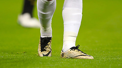 Detail of Harry Kane's golden football boots