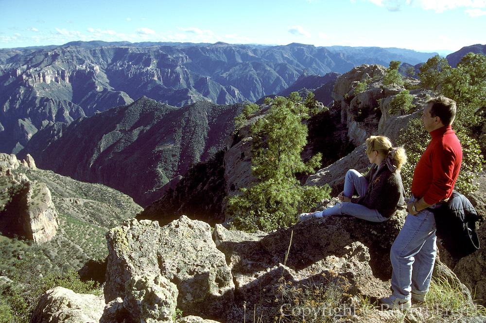 MEXICO, CHIHUAHUA STATE Copper Canyon near Divisadero