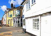 The Anchor pub on Quay Side, Woodbridge, Suffolk, England, UK