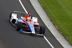 May 18, 2018 - Indianapolis, Indiana, United States of America - MATHEUS LEIST (4) of Brazil brings his car through turn one during ''Fast Friday'' practice for the Indianapolis 500 at the Indianapolis Motor Speedway in Indianapolis, Indiana. (Credit Image: © Chris Owens Asp Inc/ASP via ZUMA Wire)