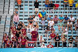 August 1, 2018 - MalmÃÂ, Sverige - 180801 Fans of Cluj during the UEFA Champions League qualifying match between Malmö FF and Cluj on August 1, 2018 in Malmö..Photo: Ludvig Thunman / BILDBYRÃ…N / kod LT / 35511 (Credit Image: © Ludvig Thunman/Bildbyran via ZUMA Press)