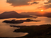 The sun rise over Cahersiveen as viewed from Geokane Mountain on Valentia Island in 2015.<br /> Photo: Don MacMonagle <br /> e: info@macmonagle.com