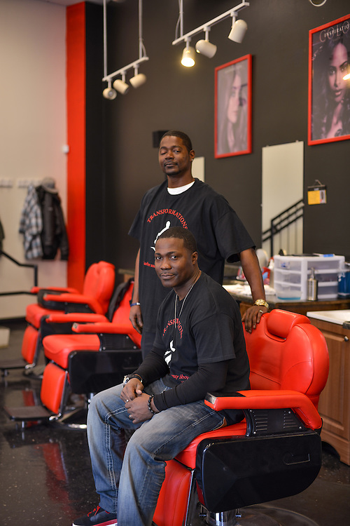 Employees at Transformations Barber and Beauty Salon.