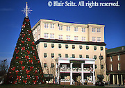 PA Historic Places, Gettysburg, Gettysburg Hotel, Historic Hotel, Christmas Tree, Town Square, Adams Co., Pennsylvania