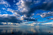 Bird and cloudscape, Lake Pattern, Sweden