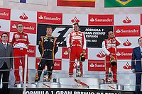 MOTORSPORT - F1 2013 - GRAND PRIX OF SPAIN / GRAND PRIX D'ESPAGNE - BARCELONA (ESP) - 10 TO 12/05/2013 - PHOTO : FRANCOIS FLAMAND / DPPI - ALONSO FERNANDO (SPA) - FERRARI F138 - AMBIANCE PORTRAIT RAIKKONEN KIMI (FIN) - LOTUS E21 RENAULT- AMBIANCE PORTRAIT MASSA FELIPE (BRA) - FERRARI F138 - AMBIANCE PORTRAIT PODIUM - AMBIANCE