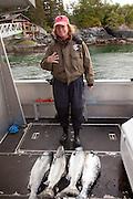 King salmon fishing, Sitka, Southeast Alaska