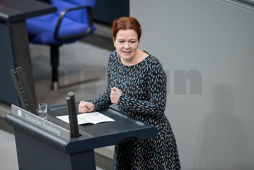 14 FEB 2019, BERLIN/GERMANY:<br /> Katja Doerner, MdB, B90/Gruene, Bundestagsdebatte, Plenum, Deutscher Bundestag<br /> IMAGE: 20190214-01-029<br /> KEYWORDS: Bundestag, Debatte, Katja Dörner