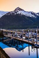 Harbor, Skagway, Inside Passage, southeast Alaska USA.
