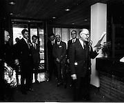 16/07/1970<br /> 07/16/1970<br /> 16 July 1970<br /> Opening of extension to the Four Courts Hotel, Dublin. Picture shows Mr. F.X. Burke (Chairman) introducing his fellow Directors. Minister for Justice Des O'Malley is 3rd from left.