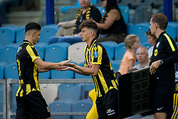 (L-R) Milot Rashica of Vitesse, Mason Mount of Vitesse during the Dutch Eredivisie match between Vitesse Arnhem and AZ Alkmaar at Gelredome on August 26, 2017 in Arnhem, The Netherlands
