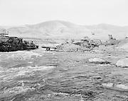 "9305-B7385-12. Chinook rock. ""Views of Celilo Falls before dam closure. October 5, 1956"""