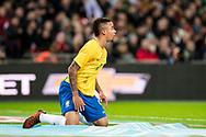 Brazil (9) Gabriel Jesus during the International Friendly match between England and Brazil at Wembley Stadium, London, England on 14 November 2017. Photo by Sebastian Frej.