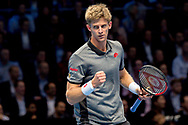 Kevin Anderson of South Africa celebrates  during the Nitto ATP World Tour Finals at the O2 Arena, London, United Kingdom on 15 November 2018. Picture by Martin Cole. Photo by Martin Cole