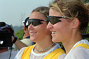 St Catherines, CANADA,  Women's Pair, Bronze medalist,  AUS W2-. Kate SLATTER  and Rachael TAYLOR,  competing at the 1999 World Rowing Championships - Martindale Pond, Ontario. 08.1999<br /> <br /> [Mandatory Credit; Peter Spurrier/Intersport-images] 1999 FISA. World Rowing Championships, St Catherines, CANADA
