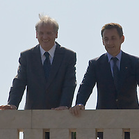 French president Nicolas Sarkozy (R) meets Hungarian president Laszlo Solyom (L) during his official visit to Hungary. Budapest, Hungary. Friday, 14. September 2007. ATTILA VOLGYI