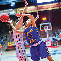 Kirtland Central Bronco Haile Gleason (10) attempts a field goal on the  St. Pius X Sartans during a District 5A quarterfinal at The Pit in Albuquerque Tuesday.  The Broncons beat the Sartans to advance in the 5A bracket. They will face Los Lunas at 9:45 a.m. at The Pit Thursday.