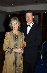VIRGINIA McKENNA and her son WILL TRAVERS at the charity Vanishing Herd Foundation - Conservation Ball held at the Radison Hotel, Portman Square, London on 13th November 2004.<br /><br />NON EXCLUSIVE - WORLD RIGHTS