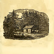 Pioneers Cabin in Kentucky from the book ' Historical Sketches Of Kentucky (1847) ' ITS HISTORY, ANTIQUITIES, AND NATURAL CURIOSITIES, GEOGRAPHICAL, STATISTICAL, AND GEOLOGICAL DESCRIPTIONS. WITH ANECDOTES OF PIONEER LIFE By Lewis Collins. Published by Lewis Collins, Maysville, KY. and J. A. & U. P. James Cincinnati. in 1847