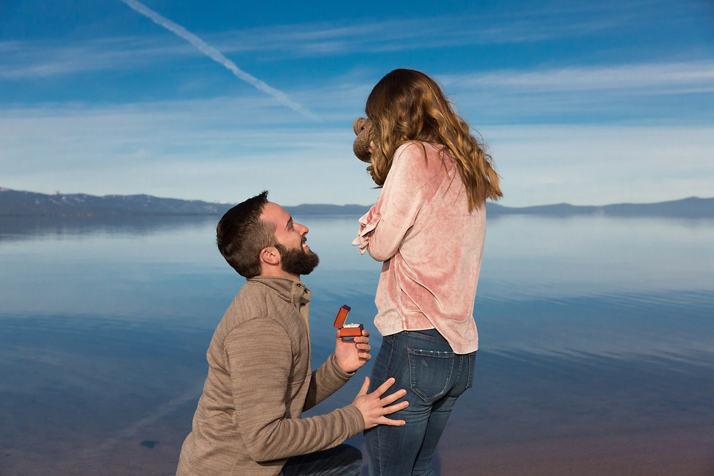 South Lake Tahoe, California Surprise Engagement Session