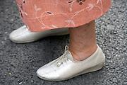 feet of an elderly woman