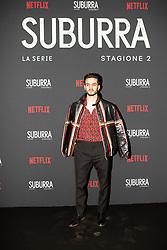 Giacomo Ferrara at the Red Carpet of the series Suburra 2 at Circolo Degli Illuminati in Rome, Italy, 20 February 2019 .Dress: Fendi  (Credit Image: © Lucia Casone/Soevermedia via ZUMA Press)