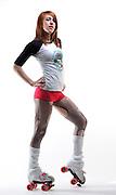 "Audra Laughlin aka ""Farra Fubar"" of the Oklahoma City Red Dirt Rebellion Roller Derby Team"