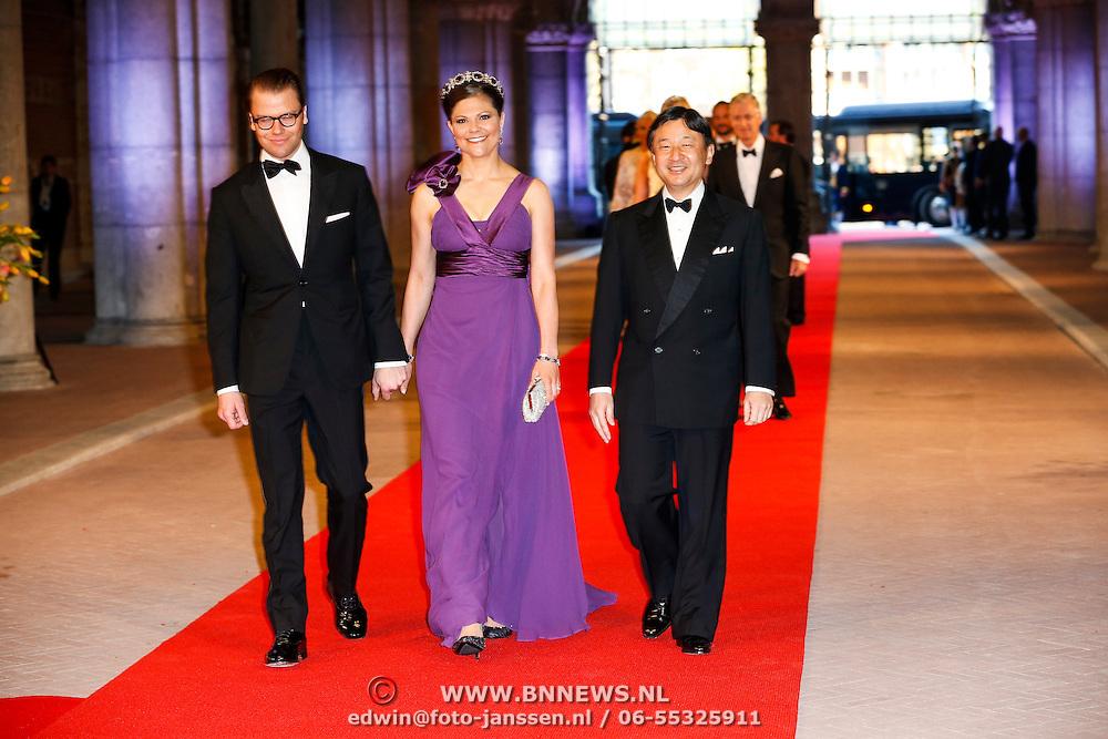 NLD/Amsterdam/20130429- Afscheidsdiner Konining Beatrix Rijksmuseum, NLD/Amsterdam/20130429- Afscheidsdiner Konining Beatrix Rijksmuseum, princess Victoria and prince Daniel of Sweden and prince Nahurito of Japan