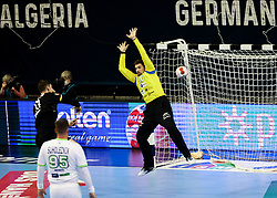 Hendrik Pekeler of Germany vs Urban Lesjak of Slovenia during handball match between National Teams of Germany and Slovenia at Day 2 of IHF Men's Tokyo Olympic  Qualification tournament, on March 13, 2021 in Max-Schmeling-Halle, Berlin, Germany. Photo by Vid Ponikvar / Sportida