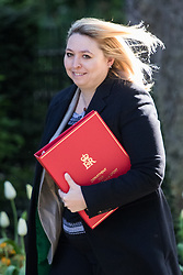 Downing Street, London, April 25th 2017. Secretary of State for Culture, Media and Sport Karen Bradley attends the weekly cabinet meeting at 10 Downing Street in London. Credit: ©Paul Davey