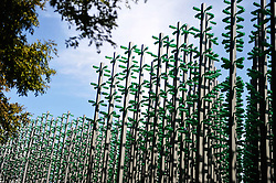 July 29, 2017 - Qingdao, Shandong, China - An eye-catching ¡°beer forest¡± made by 30,000 beer bottles attracts many citizens and tourists in Qingdao City, east China¡¯s Shandong Province, July 18, 2017. The 27th Qingdao International Beer Festival is to be held soon. (Credit Image: © TPG via ZUMA Press)