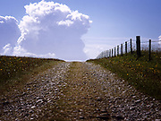 Farm track on South Uist, Hebrides