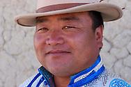 Mongolian Shepherd Ge Ri Li Ao De at home, Inner Mongolia, China