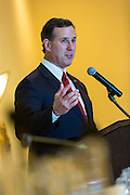 Former U.S. Senator Rick Santorum addresses the South Carolina National Security Action Summit on March 14, 2015 in West Columbia, South Carolina.