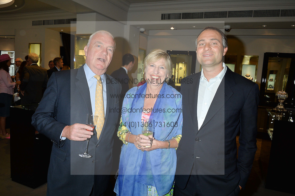 Left to right, JAMES & JANIE OSBORNE he is the uncle of George Osborne and BEN GOLDSMITH at a party to celebrate the publication of the Summer edition og the Fitzdares Times held at Theo Fennell, 169 Fulham Road, London on 13th June 2016.