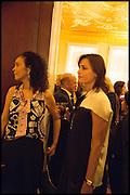 YASMIN LEBON, James Franco talk and supper at Mansfield St. hosted by Maja Hoffmann. London. 23 November 2014