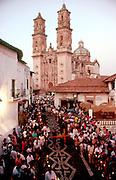 MEXICO, SEMANA SANTA Taxco; procession from church