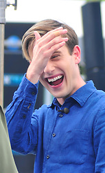 Hollywood Medium Tyler Henry at Universal City Walk to tape Extra on July 17, 2017. 17 Jul 2017 Pictured: Hollywood Medium Tyler Henry at Universal City Walk to tape Extra. Photo credit: MEGA TheMegaAgency.com +1 888 505 6342