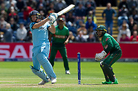 Cricket - 2019 ICC Cricket World Cup - Group Stage: England vs Bangladesh<br />                          <br />                Jos Buttler pulls <br /> …at Cardiff Wales Stadium.<br /> <br /> Credit: COLORSPORT/WINSTON BYNORTH