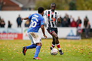 Harold Odametey of Maidenhead United in action during the The FA Cup 1st round match between Maidenhead United and Portsmouth at York Road, Maidenhead, United Kingdom on 10 November 2018.
