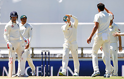Australia's Steve Smith reviews the wicket of Mark Stoneman during day one of the Ashes Test match at the WACA Ground, Perth.