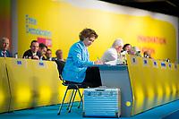 DEU, Deutschland, Germany, Berlin,12.05.2018: FDP-Generalsekretärin Nicola Beer beim 69. Bundesparteitag der Freien Demokratischen Partei (FDP) in der Station.