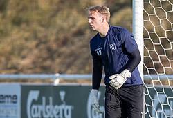 Frederik Rej-Rosenqvist (FC Helsingør) under træningskampen mellem FC Helsingør og Næstved Boldklub den 19. august 2020 på Helsingør Stadion (Foto: Claus Birch).