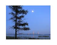 The Mackinac Bridge and The Straits of Mackinac, Michigan, USA