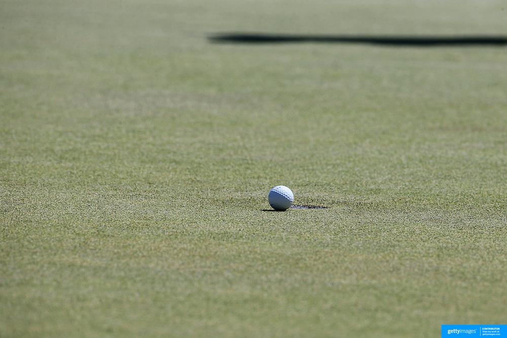 A golfer putting. Photo Tim Clayton