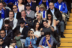 Former Chelsea midfielder Frank Lampard and his wife Christine Bleakley sit close to TV presenter Jeremy Clarkson during the Premier League match at Stamford Bridge, London.