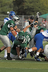 12 October 2013:   during an NCAA division 3 football game between the North Park vikings and the Illinois Wesleyan Titans in Tucci Stadium on Wilder Field, Bloomington IL